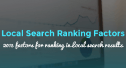 Summary of the 2015 Local Search Ranking Factors