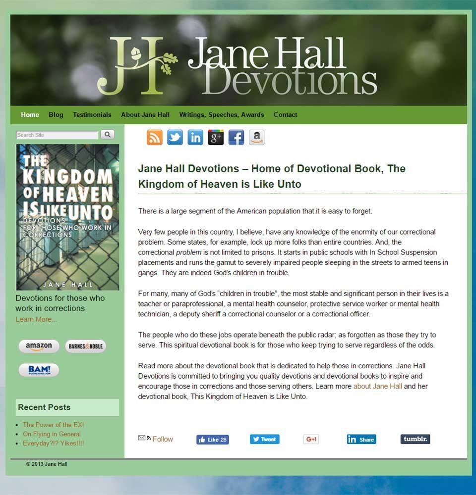 Jane Hall Devotions