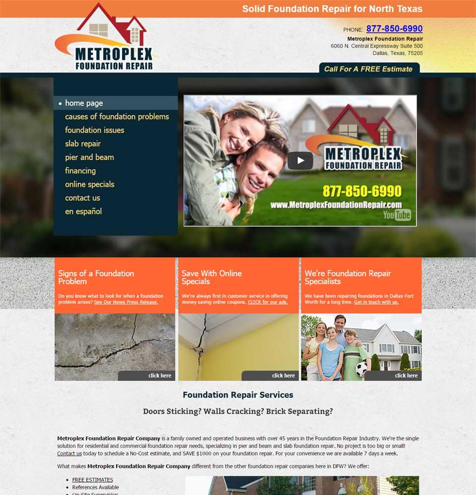 Metroplex Foundation Repair Services